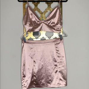 Two piece mini skirt set